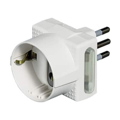 Adattatore S3610D/F multiplo 10A, BTicino bianco