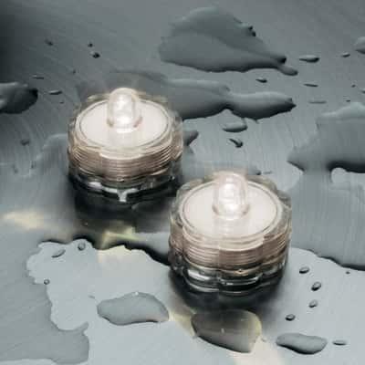 Tea Light sommergibili 1 minilucciole Led classica gialla H 2,5 cm