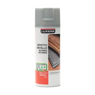 Smalto spray Effetto Metallo Luxens argento metallizzato 400 ml