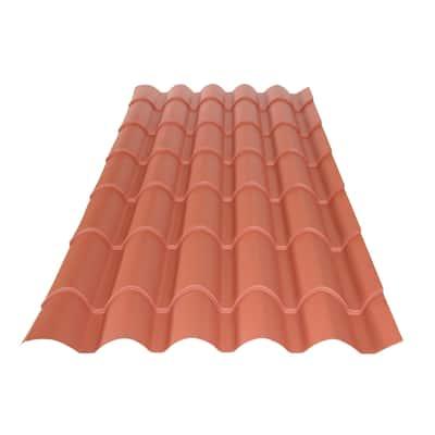 Lastra coppo rosso in acciaio 103,9 x 230  cm, spessore 0,5 mm