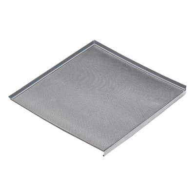 Fondo sottolavello alluminio L 56,4 x P 3 cm