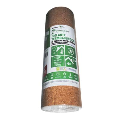 Rotolo in sughero supercompresso Fortlan L 10000 mm x H 500 mm, spessore 2 mm