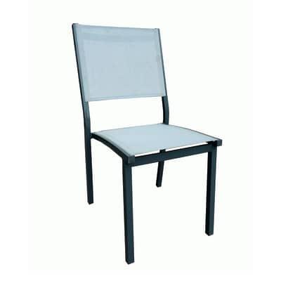 Sedia impilabile Elba grigio