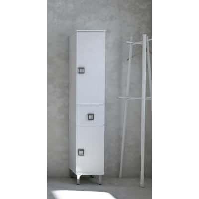 Colonna Norah bianco 2 ante, 1 cassetto L 30 x H 156 x P 33,5 cm