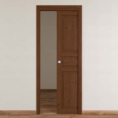 Porta da interno scorrevole Beethoven brown chocolate 80 x H 210 cm reversibile
