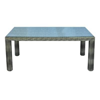 Tavolo Antigua, 180 x 100 cm grigio antracite