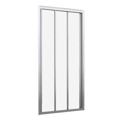 Porta doccia scorrevole Oceania 108-114, H 195 cm vetro temperato 4 mm trasparente/silver
