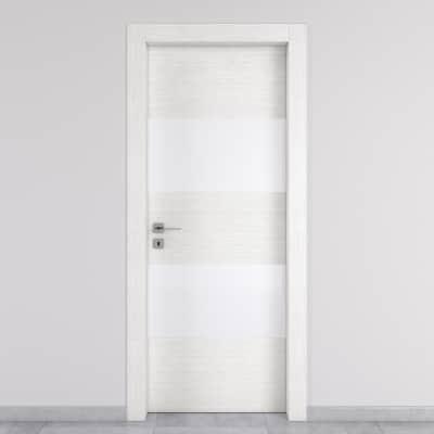 Porta da interno battente Melangè bianco 60 x H 210 cm dx