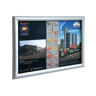 Bacheca porta avvisi Simplex2 argento 48 x 2 x 35 cm