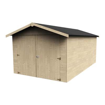 Garage in legno grezzo Garove, 14 m²
