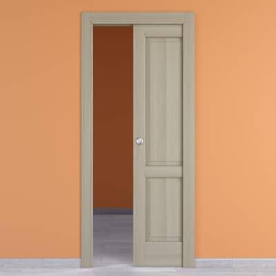 Porta da interno scorrevole Vermeer rovere sbiancato 70 x H 210 cm dx