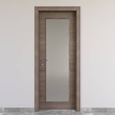 Porta da interno battente Stylish vetro gris clair 60 x H 210 cm reversibile