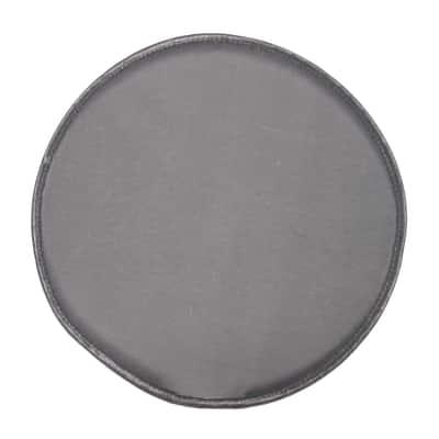 Cuscino per sedia tondo retro antiscivolo grigio Ø 38 cm