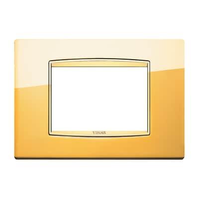 Placca 3 moduli Vimar Eikon Classic oro lucido