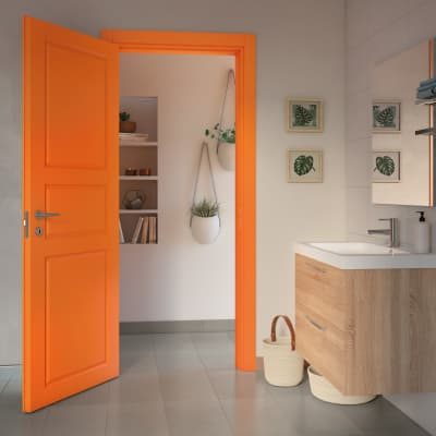 Porta da interno battente New York arancio 80 x H 210 cm dx