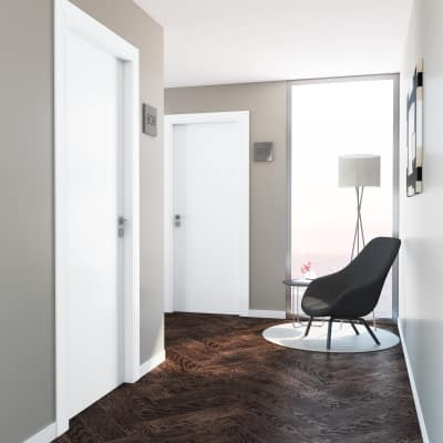 Porta per hotel battente Radisson white bianco 80 x H 210 cm dx