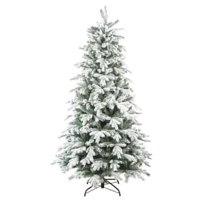 Albero di Natale artificiale Innevato PE H 150 cm
