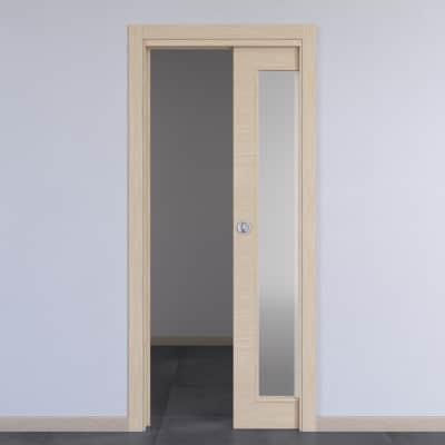 Porta da interno scorrevole Spring rovere chiaro 60 x H 210 cm reversibile