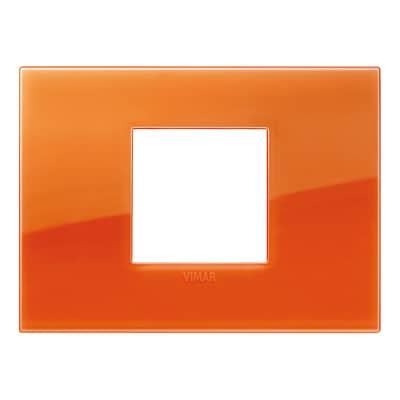 Placca VIMAR Arké 2 moduli orange