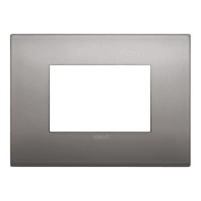 Placca VIMAR Arké 3 moduli nichel nero