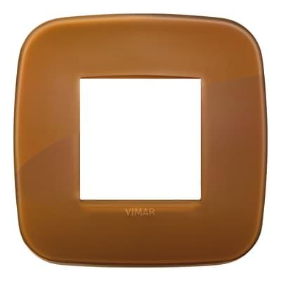 Placca VIMAR Arké 2 moduli reflex caramel