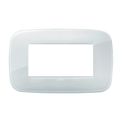 Placca VIMAR Arké 4 moduli reflex ghiaccio