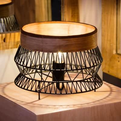 Lampada da tavolo Bohème Manam nero , in metallo, INSPIRE