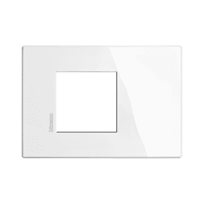 Placca BTICINO Axolute-Air 2 moduli bianco