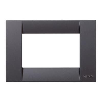 Placca VIMAR Idea 3 moduli nero satinato