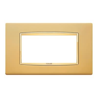 Placca VIMAR Eikon 4 moduli oro satinato