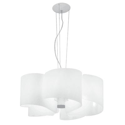 Lampadario Imagine bianco, in vetro, diam. 63 cm, E27 5xMAX42W IP20