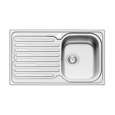 Lavello da incasso Amaltia Dekor 86 x 50 cm 1 vasca con gocciolatoio