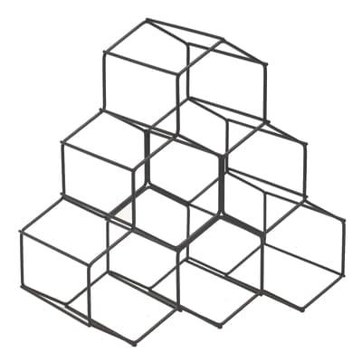 Portabottiglie hexan l 28 x h 28 x sp 14 5 cm prezzi e for Portabottiglie leroy merlin