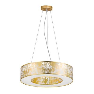 Lampadario LED integrato oro, bianco, in acrilico, D. 51 cmWOFI