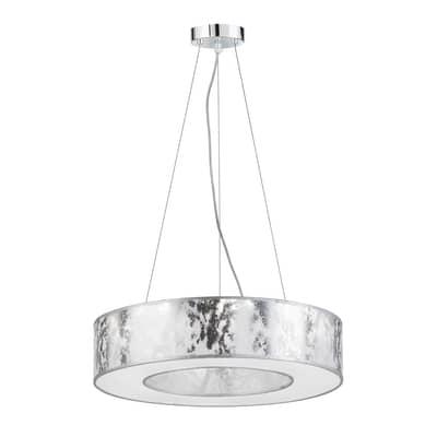 Lampadario Leika alluminio, bianco, in acrilico, diam. 51 cm,  LED 1 luceWOFI