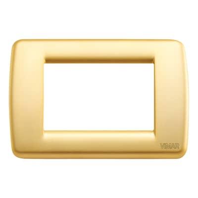 Placca VIMAR Idea 3 moduli oro opaco