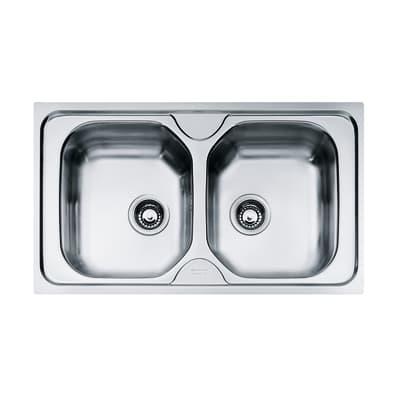 Lavello da incasso Onda 86 x 50 cm 2 vasche
