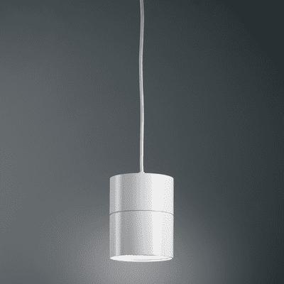 Lampadario Suspence bianco, in alluminio, diam. 15.7 cm,  LED 1 luce
