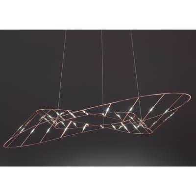 Lampadario Tesa rame, in metallo, LED integrato 40W 80LM IP20 SFORZIN