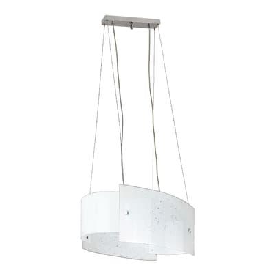 Lampadario Scinty bianco, in vetro, E27 MAX42W IP20