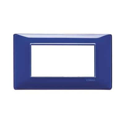 Placca VIMAR Plana 4 moduli reflex zaffiro