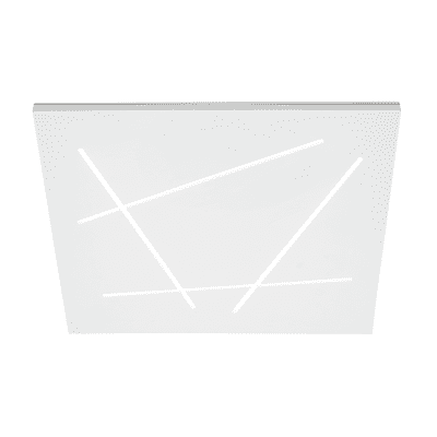 Plafoniera Flat silver, in alluminio, LED integrato 51W IP20