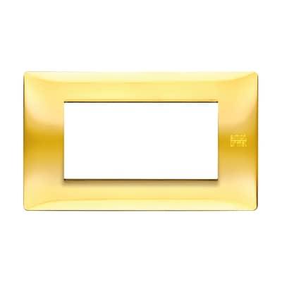 Placca SIMON URMET Nea Flexa 4 moduli oro lucido