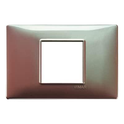 Placca VIMAR Plana 2 moduli marrone micalizzato