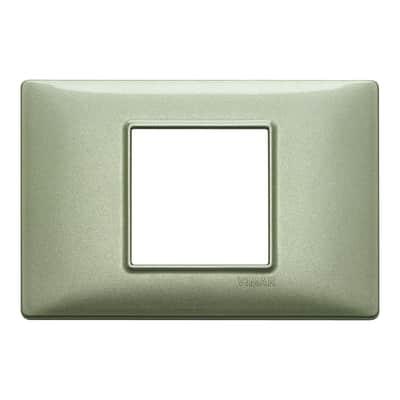 Placca VIMAR Plana 2 moduli verde metallizzato