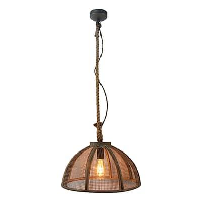 Lampadario Messy marrone, in metallo, diam. 43 cm, E27 MAX60W IP20 BRILLIANT