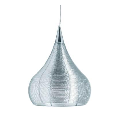 Lampadario cromo in metallo , D. 38 cmLUSSIOL