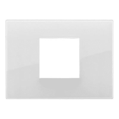Placca VIMAR Arké 2 moduli reflex ghiaccio