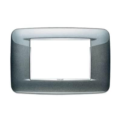 Placca VIMAR Eikon 3 moduli grigio atlantic metal