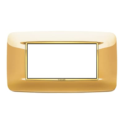 Placca VIMAR Eikon 4 moduli oro lucido